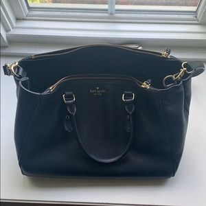 Kate spade leather briefcase with shoulder strap